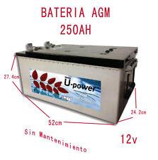 Batería solar  AGM Sin Mantenimiento 250Ah Fotovoltaica