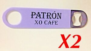 x2 Patron XO Cafe Tequila Blade Speed Beer Bottle Opener Stainless PVC Coated
