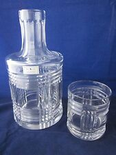 RALPH LAUREN Crystal Glen Plaid 2 Piece SIGNED Nite Set Carafe & Glass EXCELLENT