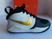 Nike Kids Team Hustle D 9 Sneakers Black/Gold AQ4224 004 Sneakers Size 3.5Y