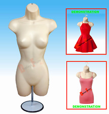 MANNEQUIN +1 HOOK 1 STAND, FEMALE FLESH DRESS BODY FORM - DISPLAY WOMEN CLOTHING