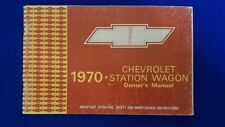 CHEVROLET 1970 Station Wagon Original Owners Manual Never Used, Great Condition