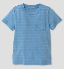 Boys Cat & Jack Short Sleeve Textured Striped Pocket T-Shirt Select Size (1914)