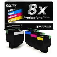 8x Pro Toner XXL for Lexmark CX-410-de CX-510-dthe CX-310-dn CX-310-n CX-410-e