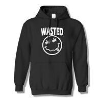 Wasted Weed Smoke Hoodie Marijuana Pullover Roll Joint Pot Swag Dope Sweatshirt