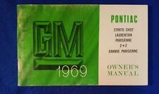 PONTIAC 1969 Laurentian,  Parisienne Original Owners Manual Never Used