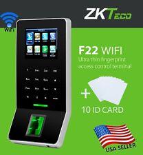 Access Control System Biometric Fingerprint zkteco f22 whit wifi, attendance.USA