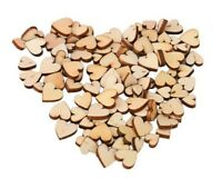 Mix Rustic Wooden Love Heart Wedding Scatter Craft Decoration 25/50/100/200