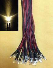 (50 PCS) 5mm Warm White pre wired LED light lamp bulb 5v 6v 9V 12V DC 20cm - au