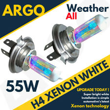 H4 XENON SUPER WHITE 55W MAIN BEAM 12V HEADLIGHT HEADLAMP BULBS HID LIGHT X 2