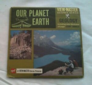 Our Planet Earth  Geology   View Master  Packet  1967  Rare