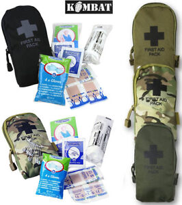 Combat Military First Aid Kit Survival Medical Belt Bag Pouch Travel Pack Army