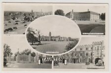 Somerset postcard - Taunton - Multiview showing 5 views - RP - P/U 1958
