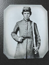 Civil War doubled armed Military Soldier tintype C515RP
