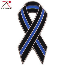 Thin Blue Line Ribbon Pin Support Law Enforcement Rothco 1965