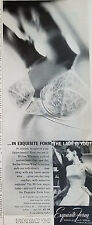 1957 Vintage Womens EXQUISITE FORM Lace Bra Clothing Fashion Ad