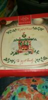 Lenox Christmas Stockings Fireplace The Gift of Friends White TRIVET 8+""