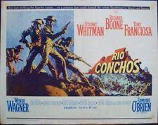 RIO CONCHOS half sheet movie poster 22x28 WESTERN JIM BROWN McCARTHY Art 1964