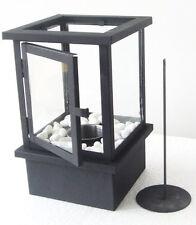 Design Tisch-Ethanol Kamin aus Glas & Metall Glaskamin Retro Dekokamin