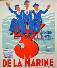 TROIS DE LA MARINE Marin Navire Mer Toulon Film 1934