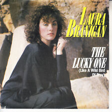 "LAURA BRANIGAN  The Lucky One PICTURE SLEEVE 7"" 45 record NEW + jukebox strip"