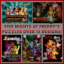 Personalised Five Nights at Freddy's Puzzle - 120pc Jigsaw - Gift Idea - FNAF