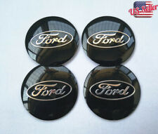 "4Pcs 2.2"" Black Wheel Center Hub Caps Emblem Badge Alloy Decal For Ford"
