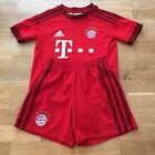 Adidas - Bayern Munich 2015-16 Kids Football Home Kit Size 4-5 Years 110cm, Red
