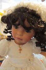 """African American Porcelain Doll by Pamela Erff 20"""" Tall  First Communion?"""