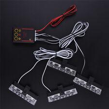 NEW Car 16 LED Strobe Flash Light Dash Emergency Warning Lamp Red & Blue 1Kit