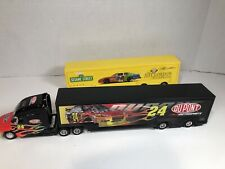 NASCAR #24 Jeff Gordon DuPont  1:64 trailer rig With Two Trailers Sesame Street