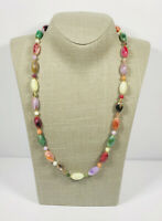 Vintage Necklace Faux Agate Beads Collar Length Cute Kitsch Costume Jewellery