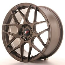4x JAPAN RACING  JR18 18x8.5 ET40 5x112/114 Matt Bronze Alloy Wheels Rims