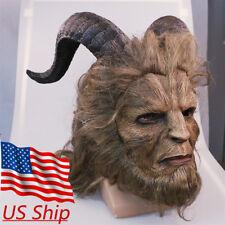 US! Beauty And The Beast Mask Prince Mask Cosplay Horror Beast Mask Handmade
