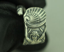 Beautiful 925 Sterling Silver Twin-Tailed Mermaid Melusine Shell Spoon Ring