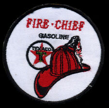 Texaco patch badge Fire Chief gasoline motor oil hot rod drag race fighter