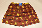Hawthorn Hawks AFL Mens Brown Printed Cotton Boxer Sleep Shorts Size L New
