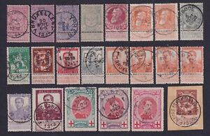 Belgium 1894/1920 Nice lot of 22 used stamps - Selected cancels............X2967