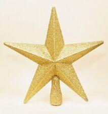 Sapin de Noël Cantonnière Décoration 200mm Incassable Pailleté Étoile - Doré