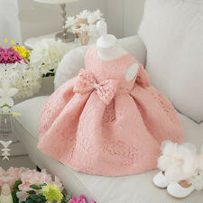 Kid Girl Bowknot Baby Princess Tutu Dress Party Wedding Christening Clothes 0-5Y