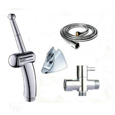 "New Douche Spray Bidet Toilet Kit Shower Muslim Shataf G7/8""T-adapter Set Chrome"