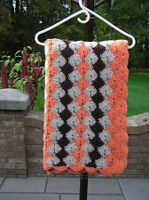 VINTAGE 1970  HAND CROCHET AFGHAN NEVER USED OR DISPLAYED ACRYLIC YARN WASHABLE