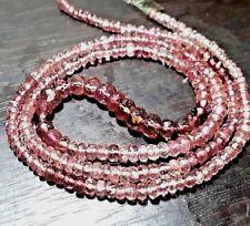 gems grade Natural Pink Tourmaline 2-3mm facete Rondelle Gemstone Beads Strand