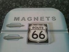 Route 66 Road Sign Fridge Magnet. (Square). Americana. Travel Memorabilia. USA