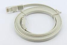 10m FLAT Network Ethernet Cat 5e Cat5e Cable LAN Patch 10 Metre Thin Ribbon Lead