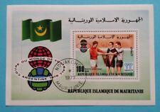 "Mauretanien: Michel Block-Nr. 19 ""Fussball-WM´78"" aus 1977, gestempelt"