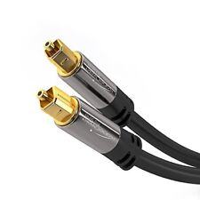 KabelDirekt 15m Optical TOSLINK Digital Audio Cable - PRO Series