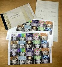 GB Royal Mail Royal Society 350 Years Stamps (Unused) plus First Day of Issue