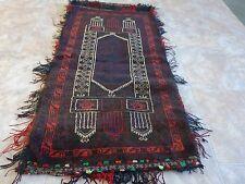 BALUCHI CUSHION, 112X51 CM, AFGHAN SADDLE BAG TRIBAL PERSIAN RUG WOOL HANDMADE