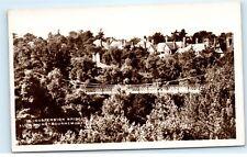 *Suspension Bridge Alum Chine Bournemouth England Vintage Photo Postcard C84